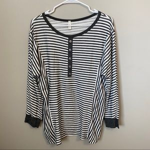 Tops - Women's Striped Thermal